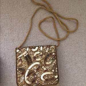 Handbags - Gold small party purse